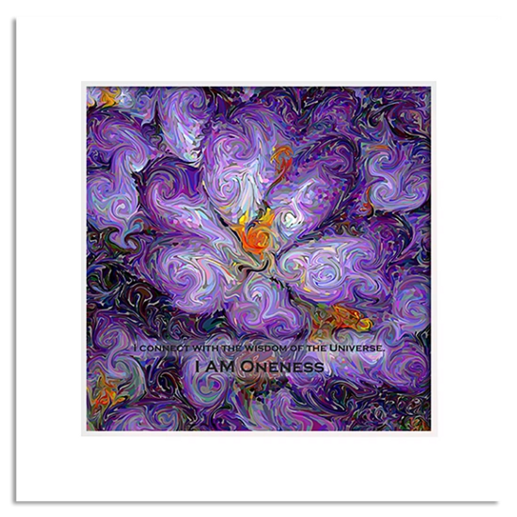 Organic Yoga Energy Art - Purple