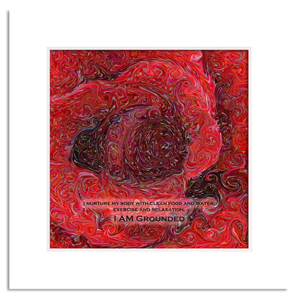 Organic Yoga Energy Art - Red