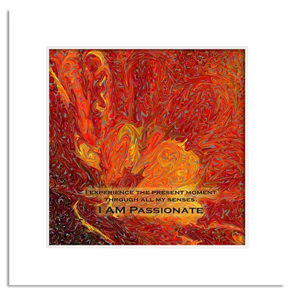 Organic Yoga Energy Art - Orange