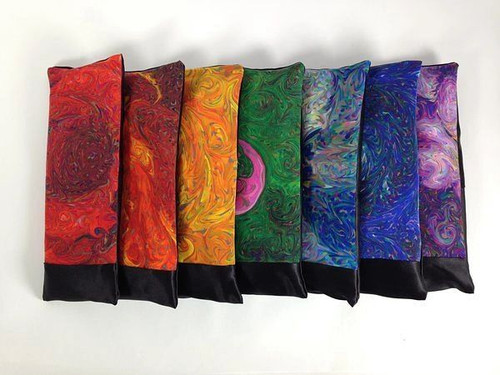 Silk Eye Pillows - Set of Seven