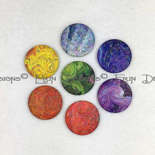 Set of 7 Chakra Magnets
