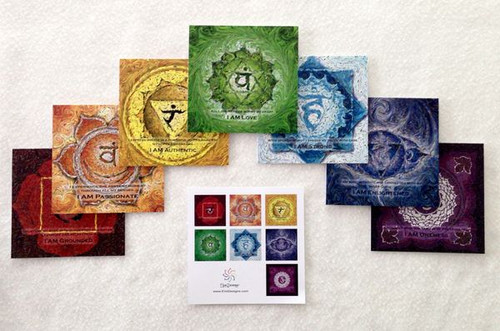 Traditional Yoga Energy Art - Set of 7 Notecards