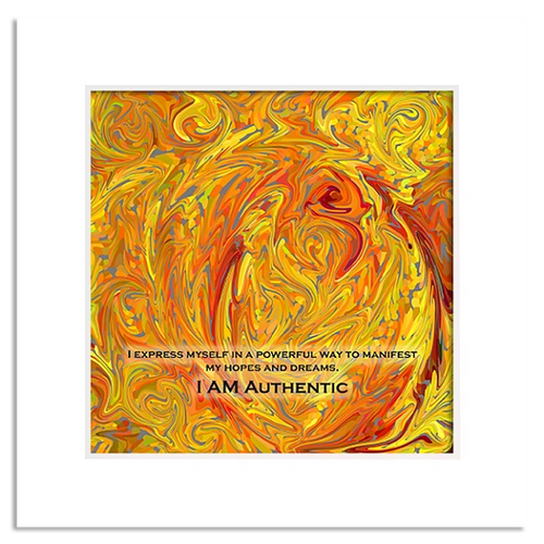 Organic Yoga Energy Art - Yellow