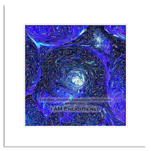 Organic Yoga Energy Art - Indigo