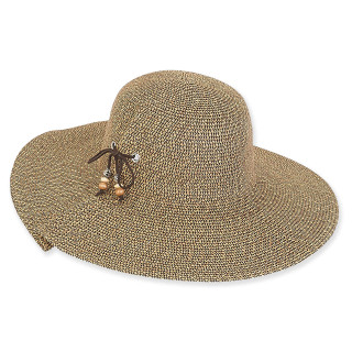 Lille Braid Floppy Hat - Black