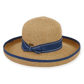 "PAPER BRAID HAT W/ RIBBON  BRIM 3""  BAILY"