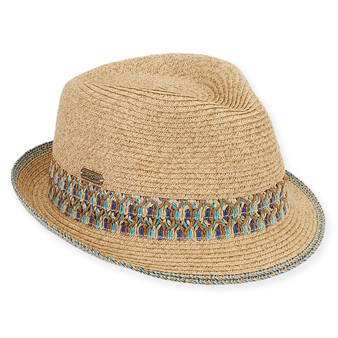 "PAPER BRAID FEDORA BRIM 1.5""  CHESTER"