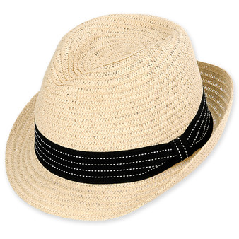 SWIFT FEDORA HAT PAPERBRAID W/RIBBON TRIM