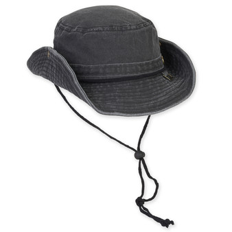 GUY HARVEY COTTON HAT W/CHIN CORD DRAWSTRING - BRIM 3""