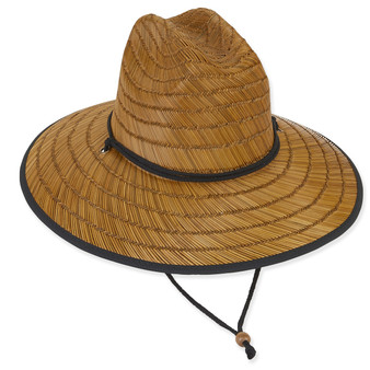 LifeGuard - RUSH STRAW W/COTTON BRIM & UNDER BRIM/CHIN CORD