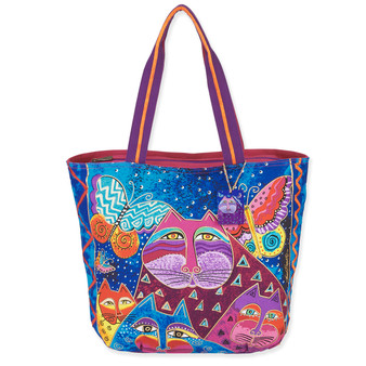 """CATS WITH BUTTERFLIES SHOULDER TOTE 