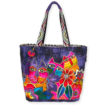 "LAUREL'S GARDEN  SHOULDER TOTE | 21"" x 6.5"" x 15"""