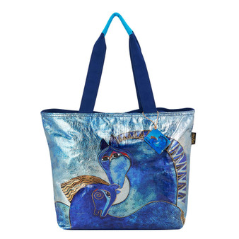 "Teal Mares Shoulder Tote | 20.5""x 5.5""x 15"""