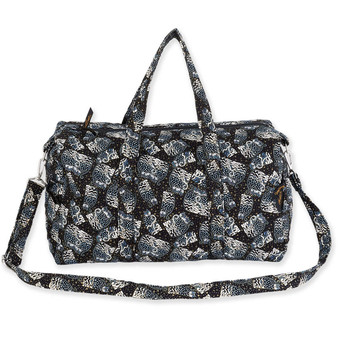 Quilted Polka Dot Cats Weekender Bag