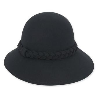 Wool felt Cloche I Black
