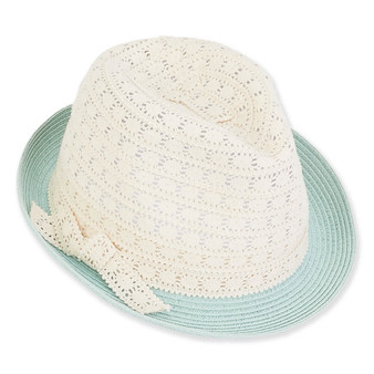 Elora | Paper Braid Fedora | Mint