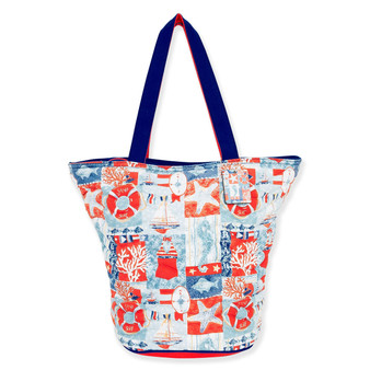 "SAND & SURF QUILTED SHOULDER TOTE | 20""x 8""x 15"""