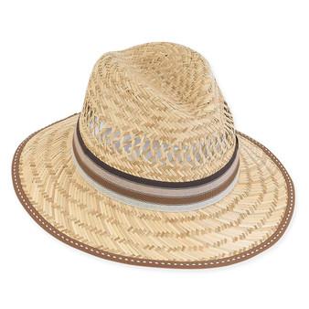 "RYAN MATT STRAW HAT, BRIM 3"""