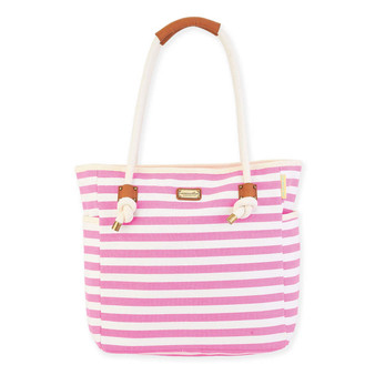 CJ BRIGHT STRIPED SHOULDER TOTE