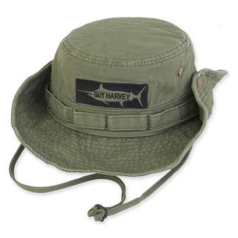 GUY HARVEY COTTON HAT W/SNAP UP BRIM