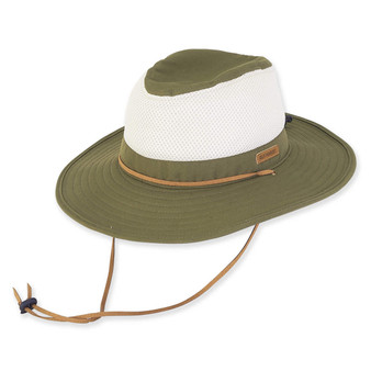 GUY HARVEY COTTON SAFARI W/MESH CROWN