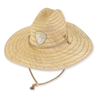 GUY HARVEY RUSH STRAW HAT W/ LOGO HOOK