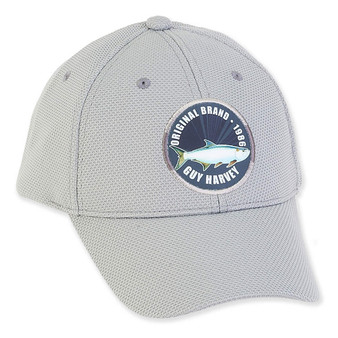 GUY HARVEY COTTON CAP WITH SIGNATURE FISH PATCH