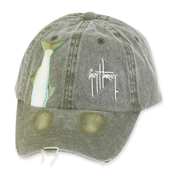 GUY HARVEY COTTON CAP WITH SIGNATURE & FISH TAILS