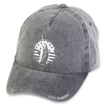 GUY HARVEY COTTON CAP WITH SIGNATURE BRIM & MARLIN PRINT