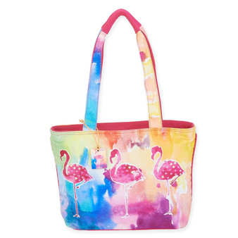 """SUNSET FLAMINGO N/S MED TOTE 