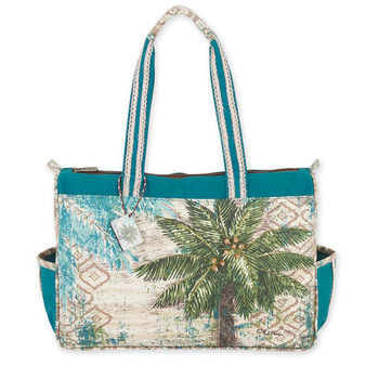 "AQUA ESCAPE MEDIUM TOTE | 15""x 4""x 12"""
