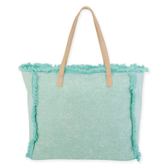 "BEACH BOUND SHOULD TOTE CANVAS | 16.25"" x 5.5"" x 14.75"""
