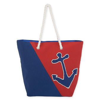 "ANCHOR CANVAS SHOULDER TOTE | 20"" x 6.5"" x 15"""