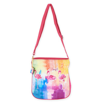 SUNSET FLAMINGO N/S CROSSBODY
