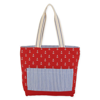 "ANCHOR SHOULDER TOTE | 17"" x 3.5"" x 15"""