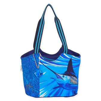 """ABSTRACT MARLIN MED SCOOP TOTE   15"""" x 5"""" x 10"""""""