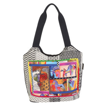Patchwork Horses Scoop Tote