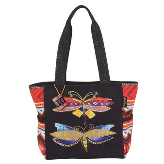 Colorful Dragonflies Medium Tote