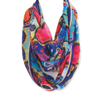 DOGS & PAPILLIONES INFINITY SCARF