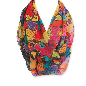 DANCING HEARTS INFINITY SCARF