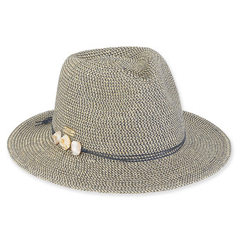 Sophia Paper Braid Fedora - Navy