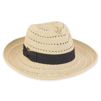 Kala Paper Braid Fedora - Natural