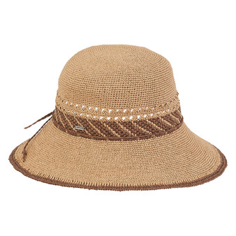 Kathy Premium Paper Crochet Hat - Tan