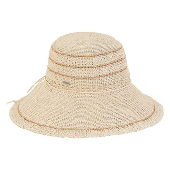 Evelyn Premium Paper Crochet Hat - Natural