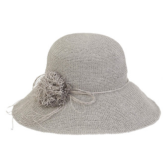 Asher Premium Paper Crochet Hat - Grey