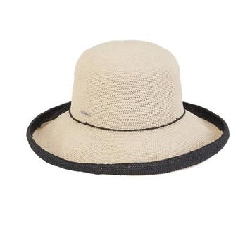 Charlaine Premium Paper Crochet Hat - Black