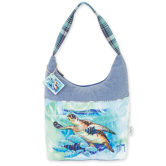 "LIVE BLUE TURTLE MEDIUM HOBO | 15""x 3.5""x 15"""