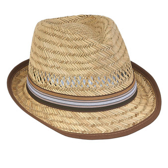 Oscar | Rush Straw Fedora - Brown