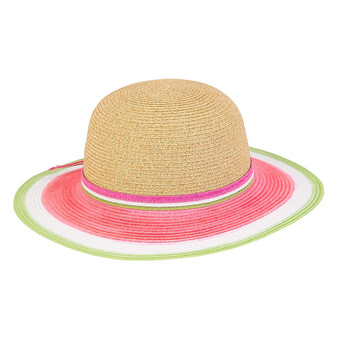 Summer | Paper Braid Hat - Watermelon
