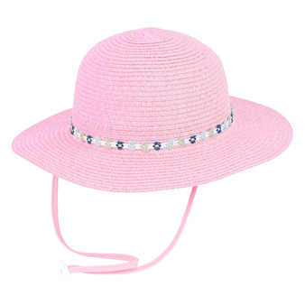 Poppy | Paper Braid Hat - Pink